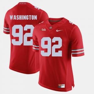 #92 Mens Adolphus Washington Ohio State Jersey Scarlet Alumni Football Game