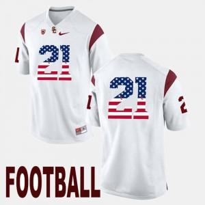 Men White Adoree' Jackson USC Jersey US Flag Fashion #21