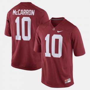 A.J. McCarron Bama Jersey Alumni Football Game #10 Crimson For Men's