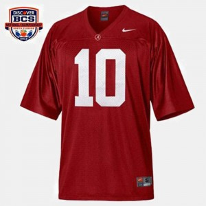 Men Red #10 College Football A.J. McCarron University of Alabama Jersey