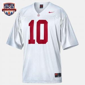 White For Men's #10 College Football A.J. McCarron Alabama Jersey