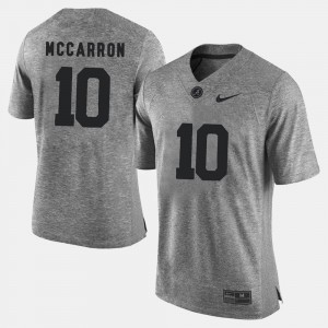 Gridiron Gray Limited Gray #10 A.J. McCarron Bama Jersey For Men