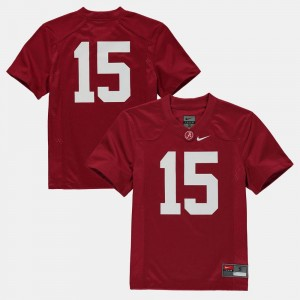 Alabama Crimson Tide Jersey College Football Crimson Youth(Kids) #15