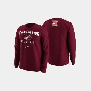 University of Alabama Sweater Crimson College Football Retro Pack Men