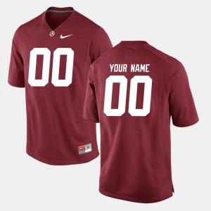 Men's College Football University of Alabama Custom Jerseys #00 Crimson
