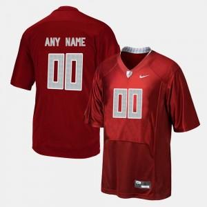 Red Men #00 Alabama Custom Jerseys College Football