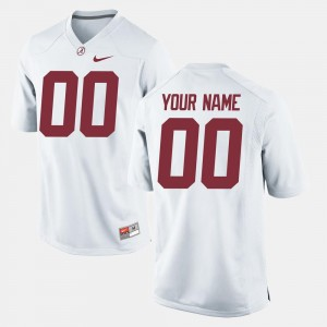 White College Football Bama Custom Jerseys Men #00