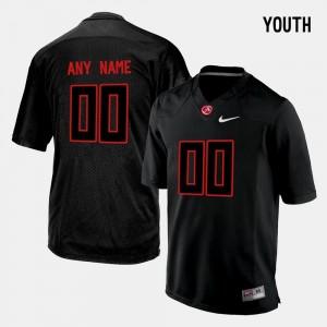 College Limited Football #00 Bama Customized Jerseys Black Kids