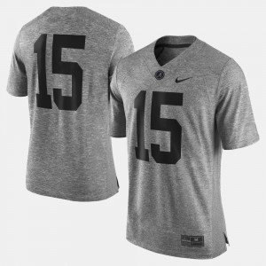 Alabama Jersey Gray Men's Gridiron Gray Limited #15