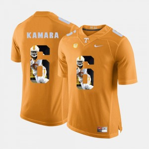 Pictorial Fashion Orange #6 For Men's Alvin Kamara Tennessee Vols Jersey