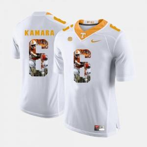 #6 Alvin Kamara UT Jersey Pictorial Fashion White Mens