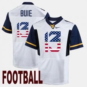 Andrew Buie West Virginia University Jersey Men's #13 US Flag Fashion White