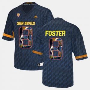 D.J. Foster Sun Devils Jersey Black #8 Men's Player Pictorial
