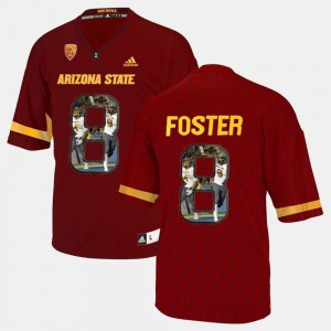 Red Player Pictorial D.J. Foster Arizona State Jersey Men #8