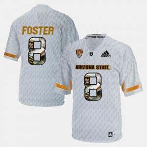 D.J. Foster Arizona State University Jersey For Men's Player Pictorial #8 White