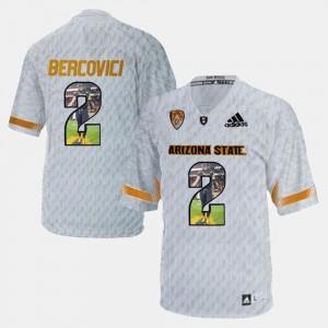 #2 Mike Bercovici Arizona State Sun Devils Jersey White Player Pictorial Mens