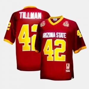 Red For Men's #42 Pat Tillman Arizona State University Jersey College Football