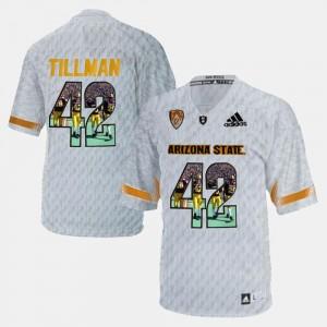 White For Men #42 Pat Tillman Arizona State University Jersey Player Pictorial