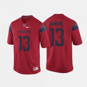 For Men College Football Brandon Dawkins Arizona Wildcats Jersey #13 Red