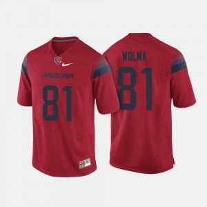 College Football #81 Men's Red Bryce Wolma University of Arizona Jersey