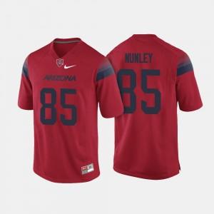 Men's Red College Football #85 Jamie Nunley Arizona Jersey