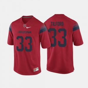 Nathan Tilford Arizona Jersey For Men Red College Football #33