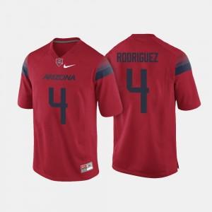 Rhett Rodriguez University of Arizona Jersey #4 Red Mens College Football