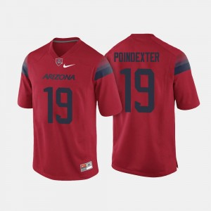 For Men #19 Shawn Poindexter University of Arizona Jersey College Football Red
