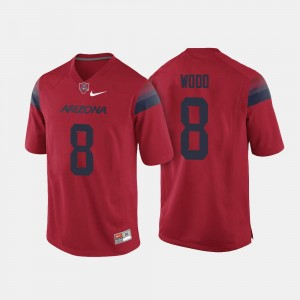 Men's #8 Red College Football Trevor Wood Arizona Wildcats Jersey