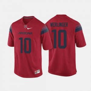 #10 Zach Werlinger Wildcats Jersey College Football Men's Red