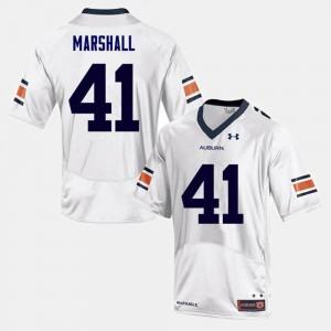 #41 Mens College Football Aidan Marshall Auburn Jersey White