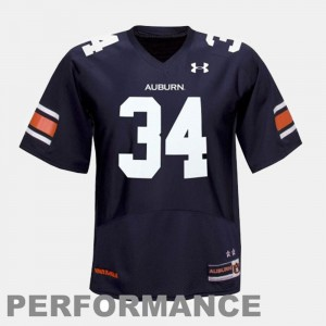 College Football #34 Bo Jackson Auburn University Jersey Blue Kids