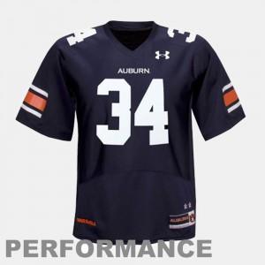 Men College Football Bo Jackson Auburn University Jersey #34 Blue