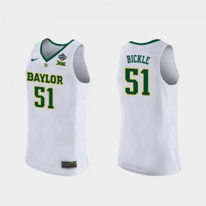 For Women's 2019 NCAA Basketball Champions #51 Caitlyn Bickle Bears Jersey 2019 NCAA Women's Basketball Champions White