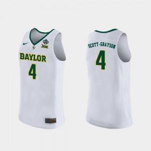 Honesty Scott-Grayson Baylor University Jersey #4 Ladies White 2019 NCAA Basketball Champions 2019 NCAA Women's Basketball Champions