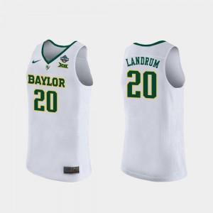 2019 NCAA Women's Basketball Champions White Women Juicy Landrum Baylor University Jersey #20 2019 NCAA Basketball Champions