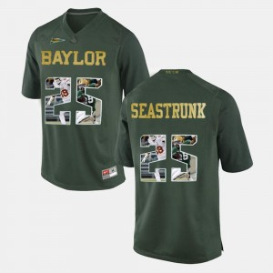 #25 Green For Men's Lache Seastrunk BU Jersey Player Pictorial