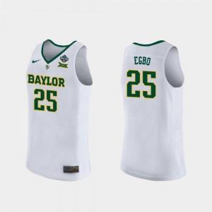 #25 White For Women 2019 NCAA Basketball Champions 2019 NCAA Women's Basketball Champions Queen Egbo BU Jersey