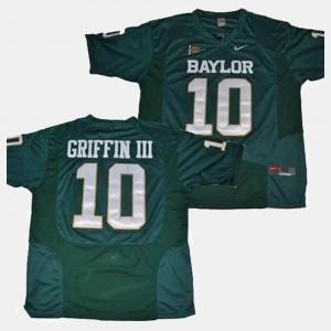 Men Green College Football #10 Robert Griffin III BU Jersey