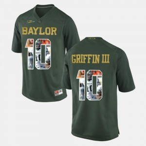 Robert Griffin III Baylor Jersey For Men Player Pictorial #10 Green