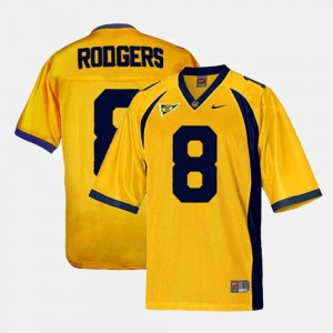 For Men's #8 Gold Aaron Rodgers University of California Jersey College Football