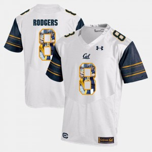 White Player Pictorial Aaron Rodgers University of California Jersey For Men #8