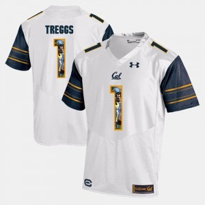 Bryce Treggs Cal Jersey Mens #1 Player Pictorial White