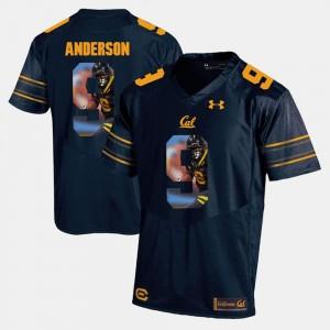 Navy Blue Player Pictorial For Men's #9 C.J. Anderson Golden Bears Jersey