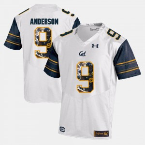 Men's C.J. Anderson University of California Jersey White #9 Player Pictorial