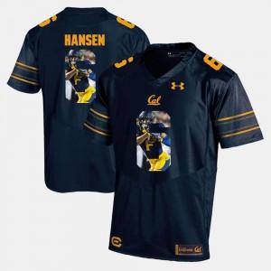 Navy Blue #6 Chad Hansen Cal Golden Bears Jersey For Men's Player Pictorial