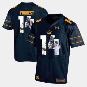 Navy Blue Men's Chase Forrest Cal Bears Jersey #14 Player Pictorial