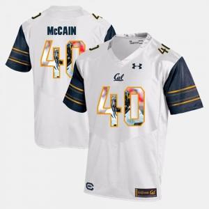 #40 Chris McCain California Golden Bears Jersey Men Player Pictorial White