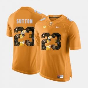 Pictorial Fashion Cameron Sutton UT Jersey #23 Orange Mens