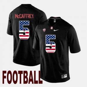 #5 US Flag Fashion Black Christian McCaffrey Stanford Cardinal Jersey Men